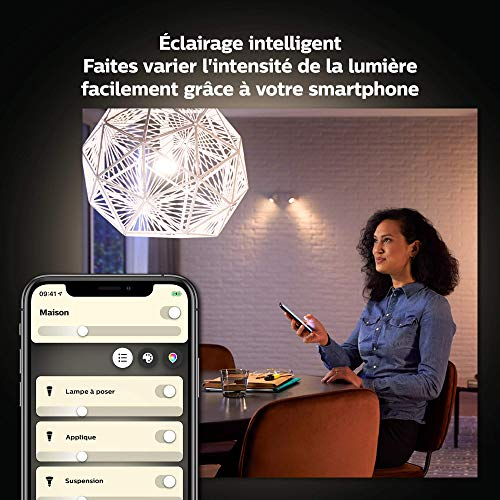 Philips Hue : Ampoule connectée LED E27 4